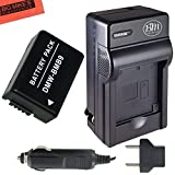 DMW-BMB9 Battery and Battery Charger for Panasonic Lumix DC-FZ80, DMC-FZ40K, DMC-FZ45K, DMC-FZ47K, DMC-FZ48K, DMC-FZ60, DMC-FZ70, DMC-FZ100, DMC-FZ150 Digital Camera