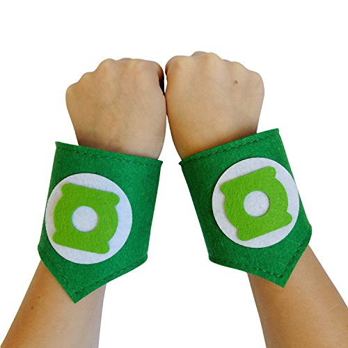 [So Sydney Superhero or Princess WRIST BANDS Kids Childrens Toddler, Boy, Girl (Green Lantern - Green & White)] (Green Lantern Cosplay Costumes)