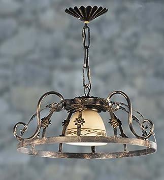 Lámparas de forja Mod. CANELA de 45?x35cms: Amazon.es: Hogar