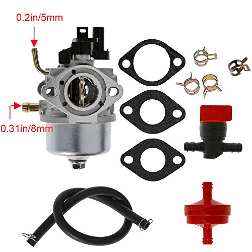 - Anxingo Carburetor for Toro CCR3650 CCR3600 CCR2500 CCR3000 CCR2450 CCR2400 Snowblower with Fuel Line & Fuel Filter & Clamps & Shut Off Valve & Gaskets