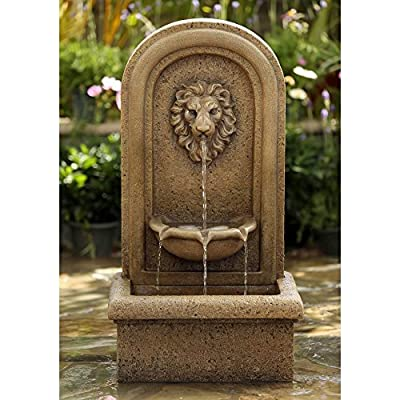 Jeco Classic Lion Head and Bowl Wall Indoor/Outdoor Fountain