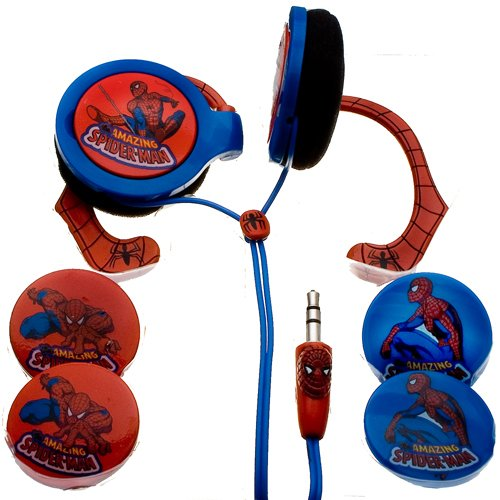 NEMO DIGITAL MVF10109SM Spider-Man Wrap Around Headphones with Inter-changeable Graphics (Discontinued by Manufacturer)