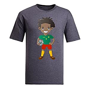 Custom Mens Cotton Short Sleeve Round Neck T-shirt,2014 Brazil FIFA World Cup UP71 gray