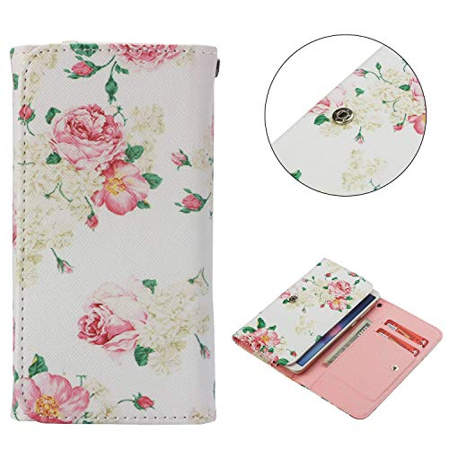 Universal Cell Phone Flip Case, JULAM PU Leather Skin Protective Folio Case Cover Wallet Clutch Bag with Card Slots Compatible BQ Mobile BQ-4072 Strike Mini 4.0