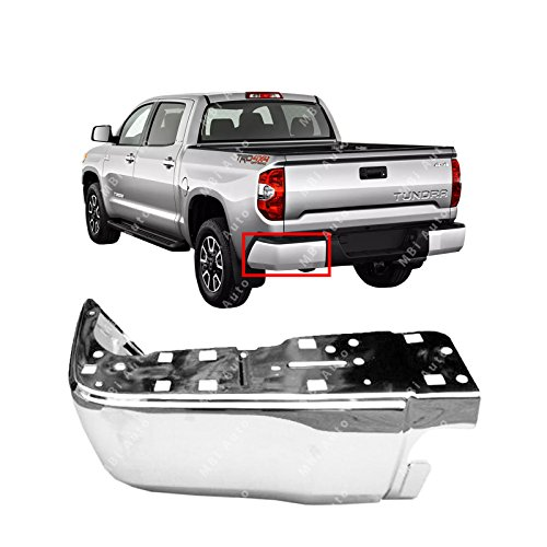 MBI AUTO - Chrome, Steel Driver's LH Rear Bumper End for 2014-2018 Toyota Tundra 14-18, TO1104123