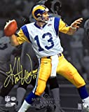 "Kurt Warner Autographed 16x20 Photo St. Louis Rams ""HOF 17"" Beckett BAS"