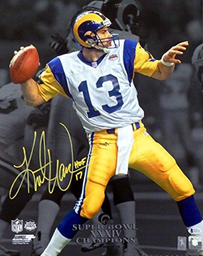 Kurt Warner Autographed 16x20 Photo St. Louis Rams