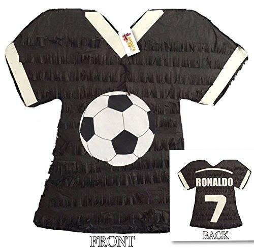 Black Soccer Jersey Pinata Ronaldo 7 by APINATA4U