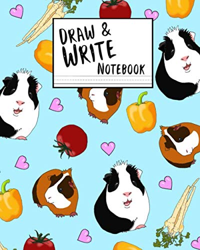(Draw and Write Notebook: Blue Guinea Pig Themed Paperback Composition Book With Space to Draw and Write, 160 pages/80 sheets, 8x11)