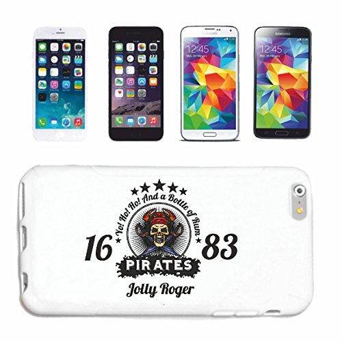 """cas de téléphone iPhone 6S """"A BOUTEILLE DE RUM SKULL PIRATE CORSAIR PIRATE PIRATE CORSAIR SKULL SKELETON"""" Hard Case Cover Téléphone Covers Smart Cover pour Apple iPhone en blanc"""