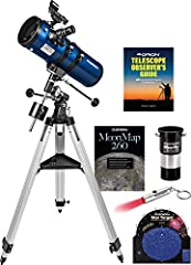 "Our compact, performance-packed Orion StarBlast II 4.5 EQ Reflector telescope is a favorite of both beginners and expert astronomers alike. It combines the high-quality Orion StarBlast II 4.5"" wide-field (f/4.0) parabolic reflector optics wit..."