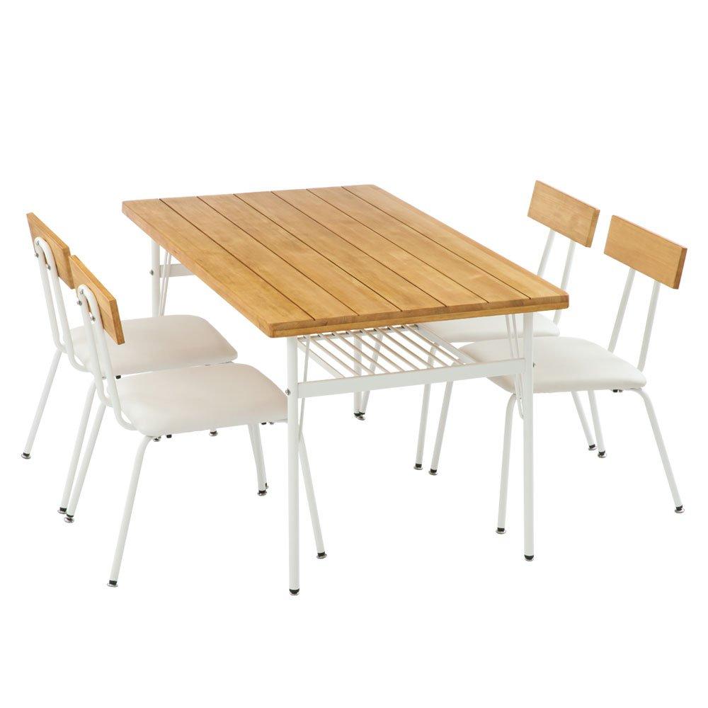ダイニングテーブル 5点セット テーブル&チェア セット 食卓セット 〔テーブル+チェア4脚〕 ナチュラル B06XYHXHR9 ダイニング5点セット|ナチュラル ナチュラル ダイニング5点セット