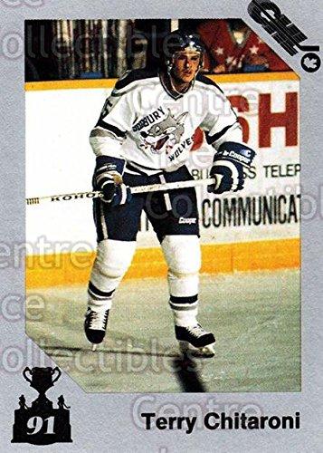 (CI) Terry Chitaroni Hockey Card 1991 7th Inning Sketch Memorial Cup 121 Terry Chitaroni