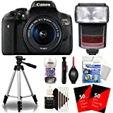 Canon EOS Rebel T6i 24.2MP Digtal SLR Camera with 18-55mm IS STM Lens , TTL Speedlite Flash and Accessories