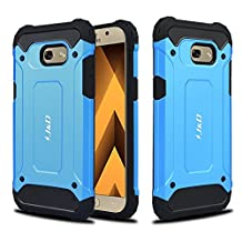 Galaxy A5 2017 Case, J&D [ArmorBox] [Dual Layer] Hybrid Shock Proof Protective Rugged Case for Samsung Galaxy A5 (Release in 2017) - Blue
