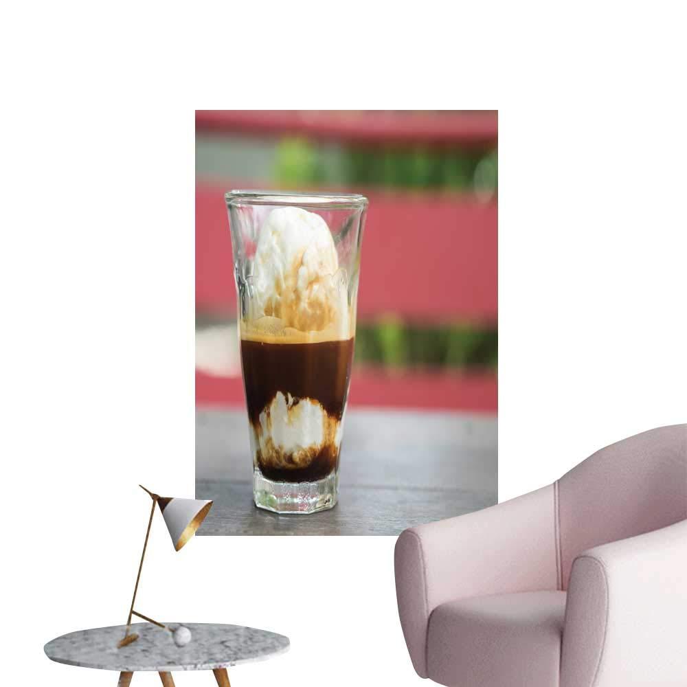 "SeptSonne Modern Painting Affogato Coffee Espresso Shot ice Cream backgroun Concept Home Decoration,24"" W x 44"" L"