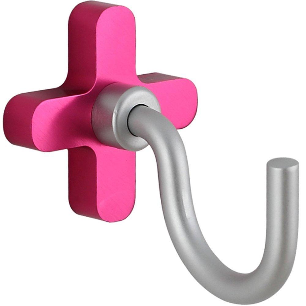 COAT RACK Coat hook - space aluminum color coat hook/bathroom wall hanger hook/solid seat U-hook/firm and durable /5 pack