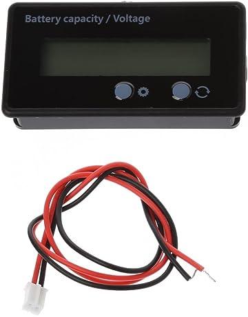 Dabixx Probador de Voltaje del voltímetro del indicador de Capacidad de la batería de Litio de