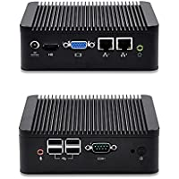 QOTOM Mini PC Q100S-S02 with 4GB RAM and 64GB SSD, Intel Celeron 1037u processor, dual core 1.8 GHz, 2 LAN Mini PC X86