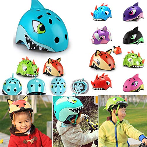 (Kids Bike Adjustable Helmet Toddler Multi Sports Helmet Ultra Light City Road Outdoor Skating Cycling Multi-Sport Safety Scooter Helmet for 3 to 8 Years Old Girls/Boys (E, S (50-54cm / 19.69-21.26in)))