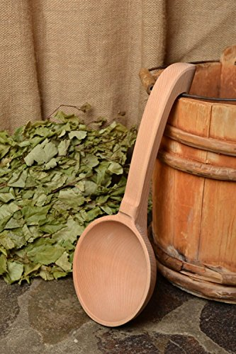 Wooden Spoon for Bath and Sauna Convenient Large Natural Handmade Scoop Beauty Supplies By MadeHeart