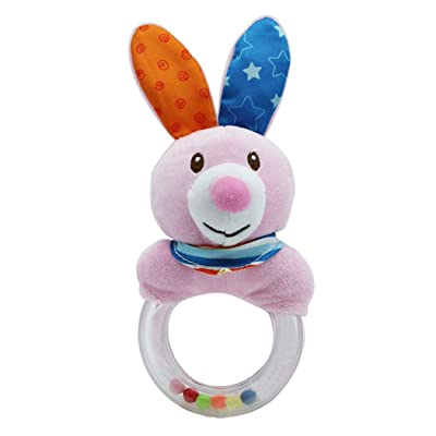 rofern Creative Animal Apron Baby Rattle Early Educational Toys: Toys & Games