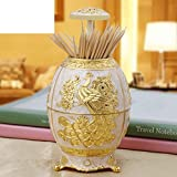Wang's portable toothpick box Fashion creative home hotel supplies Auto-style egg-shaped fancy toothpick
