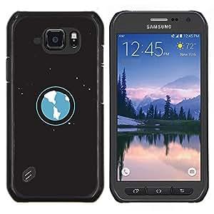 TECHCASE---Cubierta de la caja de protección para la piel dura ** Samsung Galaxy S6 Active G890A ** --Ambientación Arte Planeta Tierra Universo Estrellas Espacio