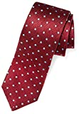 Buttoned Down Men's Classic Silk 3'' Necktie, burgundy/light blue Dot (Contrast Tail: Stripes), X-Long