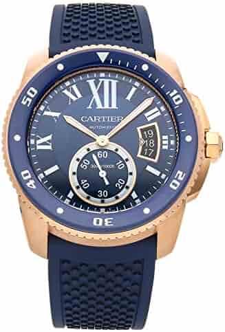 9f078dc1ce2 Cartier Calibre de Cartier Mechanical (Automatic) Blue Dial Mens Watch  WGCA0010 (Certified Pre