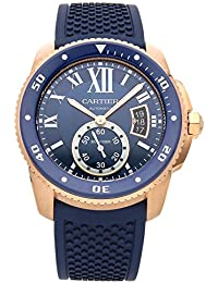Calibre de Cartier Mechanical (Automatic) Blue Dial Mens Watch WGCA0010 (Certified Pre-
