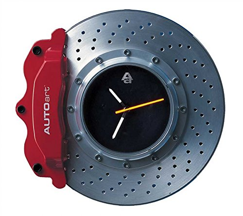 Auto Art Racing Brake Disc Wall Clock - Red ()