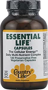 Country Life Essential Life - The Cellular Energy Daily Multi - Nutrient Complex, 120-Count