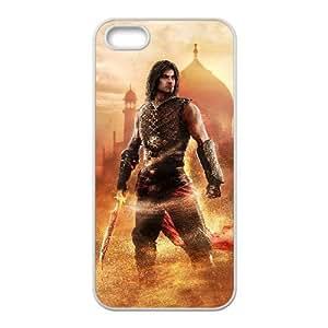 Prince Of Persia Las Arenas Olvidadas 7 funda iPhone 5 casos de teléfono celular 5s funda O4C2LKKTLP blanco