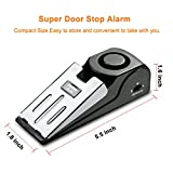 EMDMAK Door Stop Alarm with 120DB Siren Door Stopper for Home & Travel (Black) (One piece)