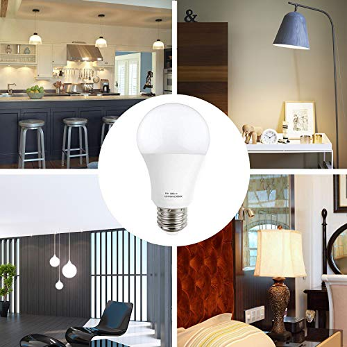 KINDEEP A19 60W Equivalent LED Light Bulb, 900 Lumens Warm White 3000K Non-Dimmable 9W E26 Base LED Bulbs, 270° Beam Angle 6-Pack