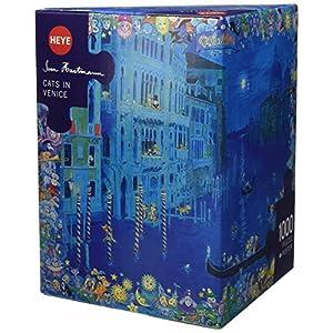 Heye 58332 Puzzle Classic Cats In Venezia Scatola Triangolare 1000 Parti