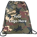 Camo Oriole Drawstring Sportspack - 200 Quantity - $2.30 Each - PROMOTIONAL PRODUCT / BULK / BRANDED with YOUR LOGO / CUSTOMIZED
