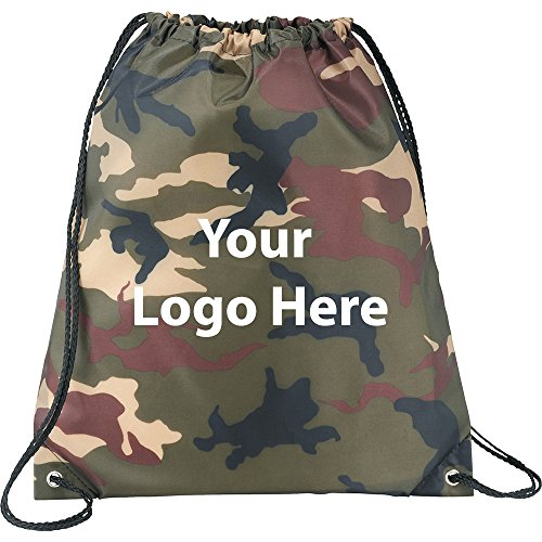 Camo Oriole Drawstring Sportspack - 200 Quantity - $2.30 Each - PROMOTIONAL PRODUCT / BULK / BRANDED with YOUR LOGO / CUSTOMIZED by Sunrise Identity