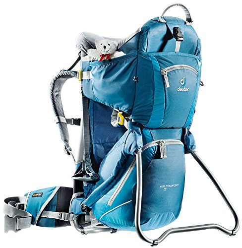 Deuter Kid Comfort 2 Framed Child Carrier for Hiking, Artic/Denim