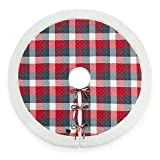 UGG Camper Plaid Tree Skirt in Red (Pack of 2)