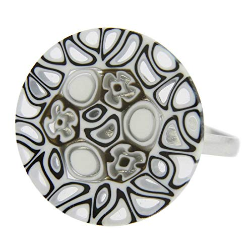 - GlassOfVenice Murano Glass Millefiori Ring