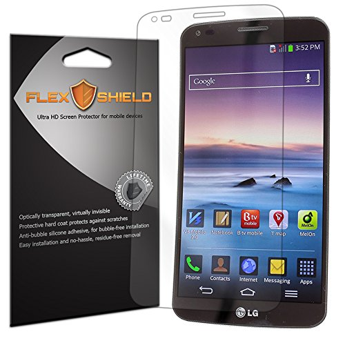 FlexShield [5-Pack] - LG G Flex Screen Protector with Lifetime Replacement Warranty - Ultra Clear Japanese PET Film - Bubble-Free HD Clarity with Anti-Fingerprint & Scratch Resistance