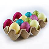 Glittery Artificial Easter Eggs- Set of 12