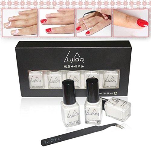 Price comparison product image Hemlock Removable Cream Tweezers Nail Beauty Anti Overflow Liquid Tape (5pc,  White)