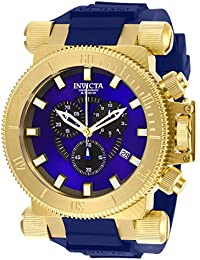 Men's Coalition Forces Stainless Steel Quartz Watch with Silicone Strap, Blue, 34.5 (Model: 27845)