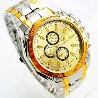 Gold Fashion Gold Quartz Watch Men Orlando Watches: Amazon