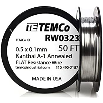 kanthal a1 wire resistance chart