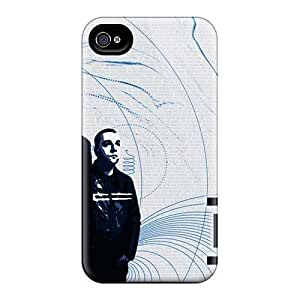 Shock-Absorbing Hard Phone Cases For Iphone 4/4s With Allow Personal Design Colorful Muse Band Series KevinCormack