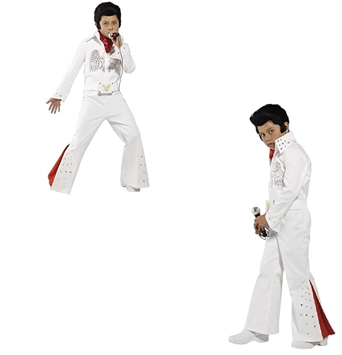 Childs Boys Officially Licensed Deluxe Elvis Fancy Dress Costume New by Smiffys